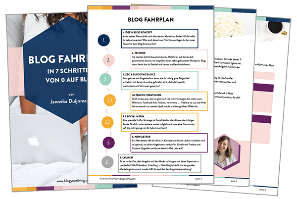 Blog-Fahrplan von Janneke Duijnmaijer