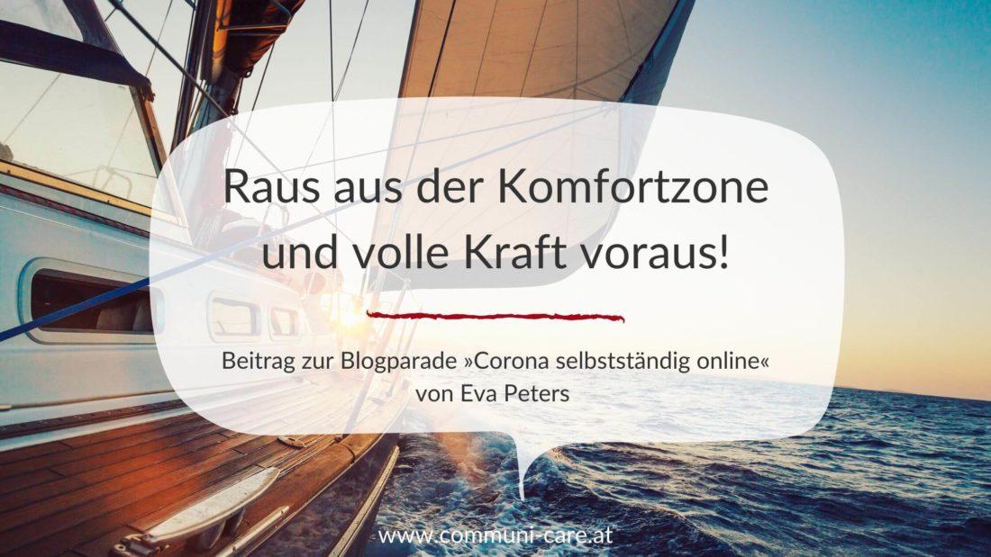 """Beitrag zur Blogparade """"Corona selbstständig online"""" von Eva Peters"""