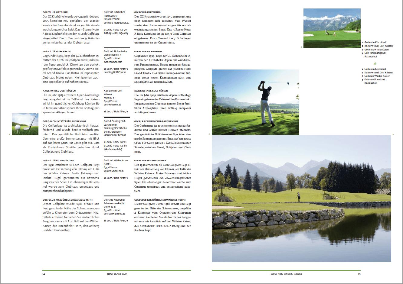 Golfplätze Region Kitzbühel