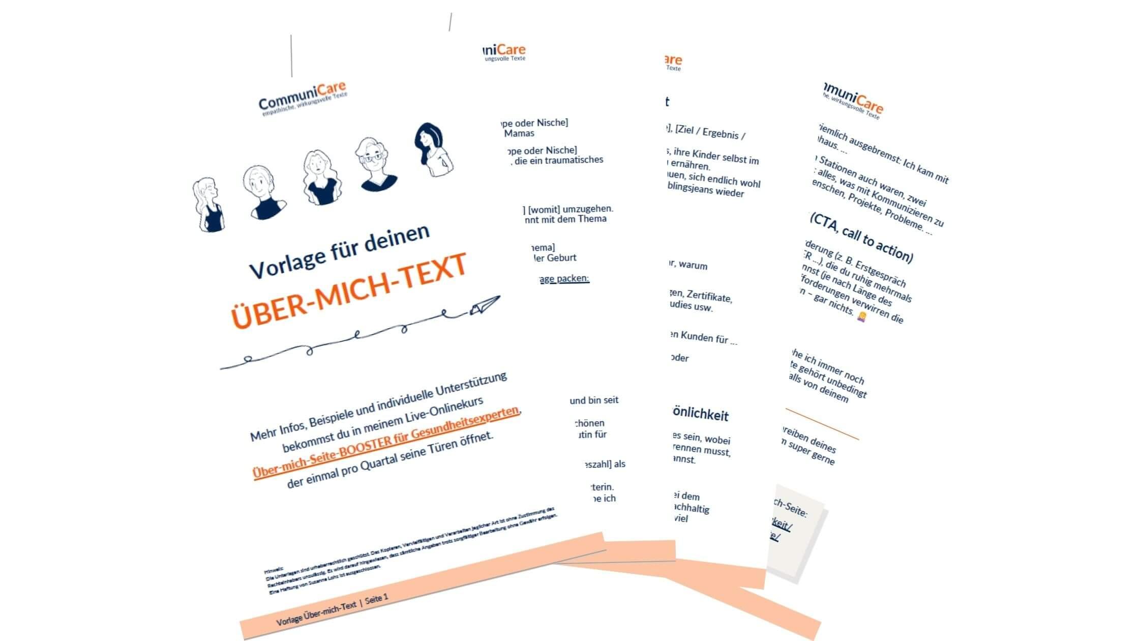 Freebie Vorlage Über-mich-Text