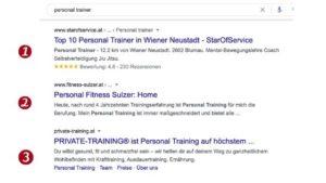 Personal Trainer auf Google finden