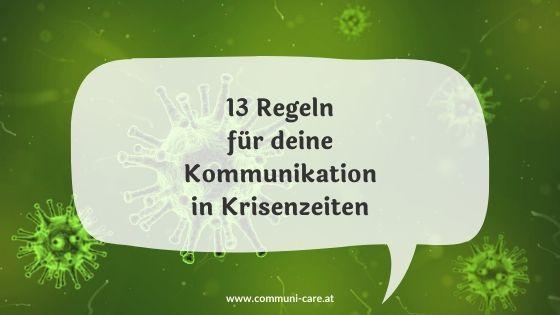 13 Regeln für Krisenkommunikation