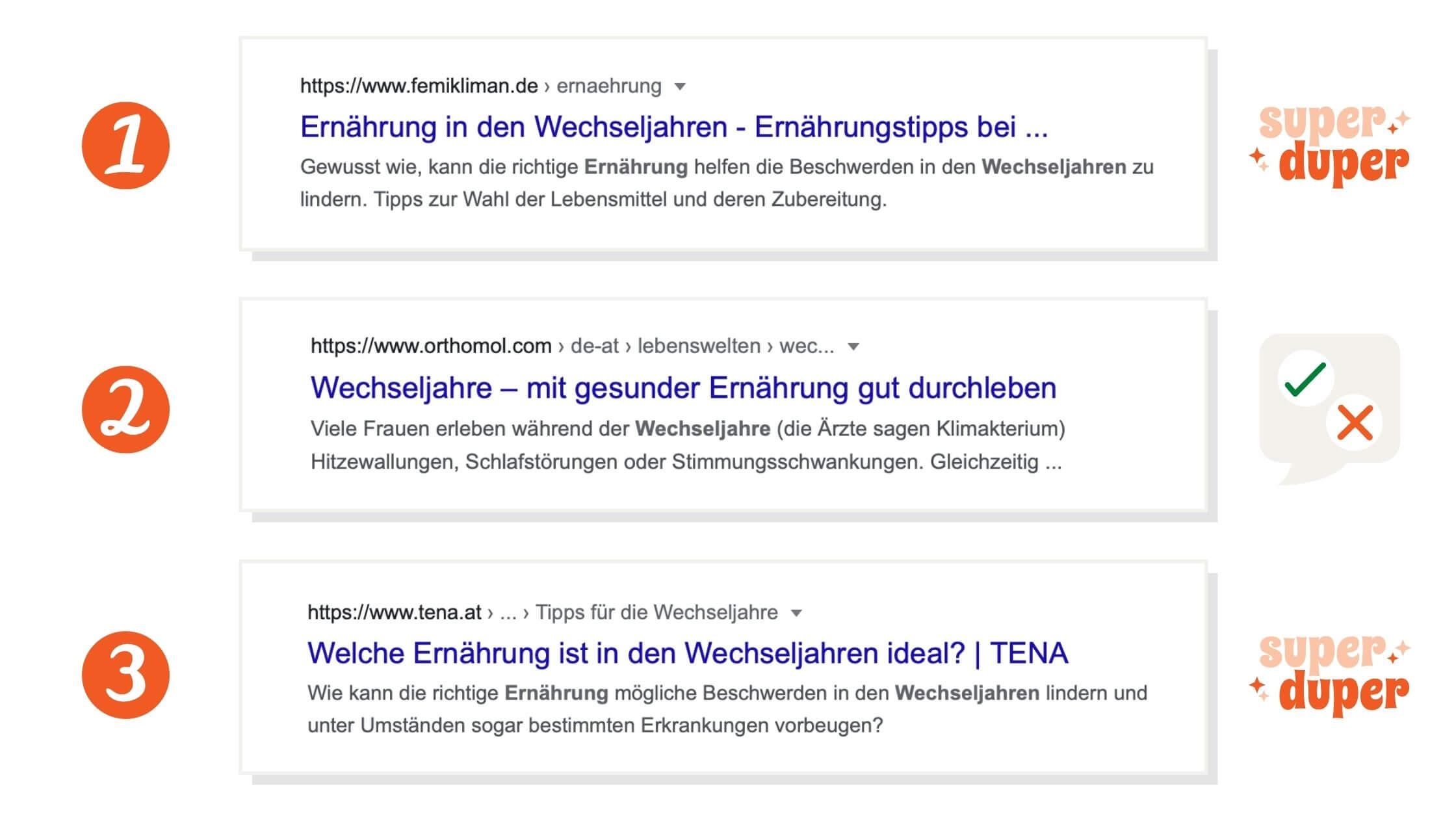 Metadaten sind die Schnipsel, die in den Google Suchergebnissen angezeigt werden