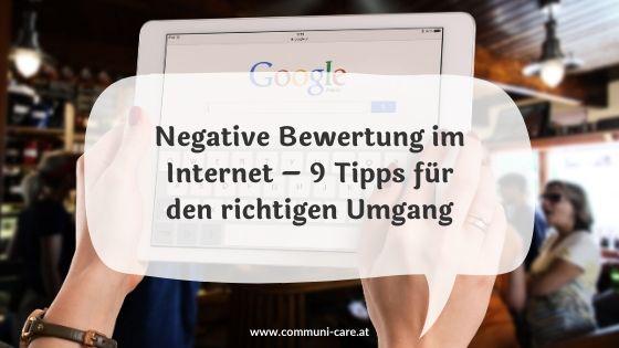 Negative Online-Bewertung – 9 Tipps für den richtigen Umgang