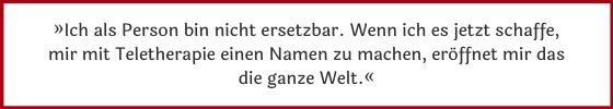"""Verena Schmalz: """"Ich als Person bin nicht ersetzbar."""""""