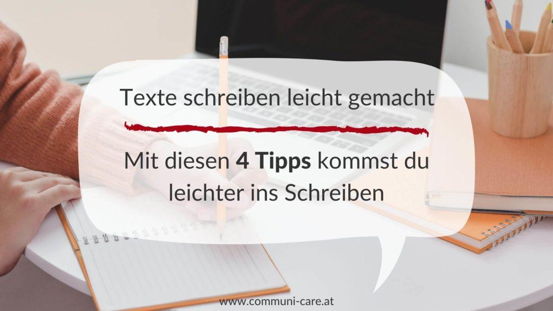 4 Tipps wie du ins Schreiben kommst