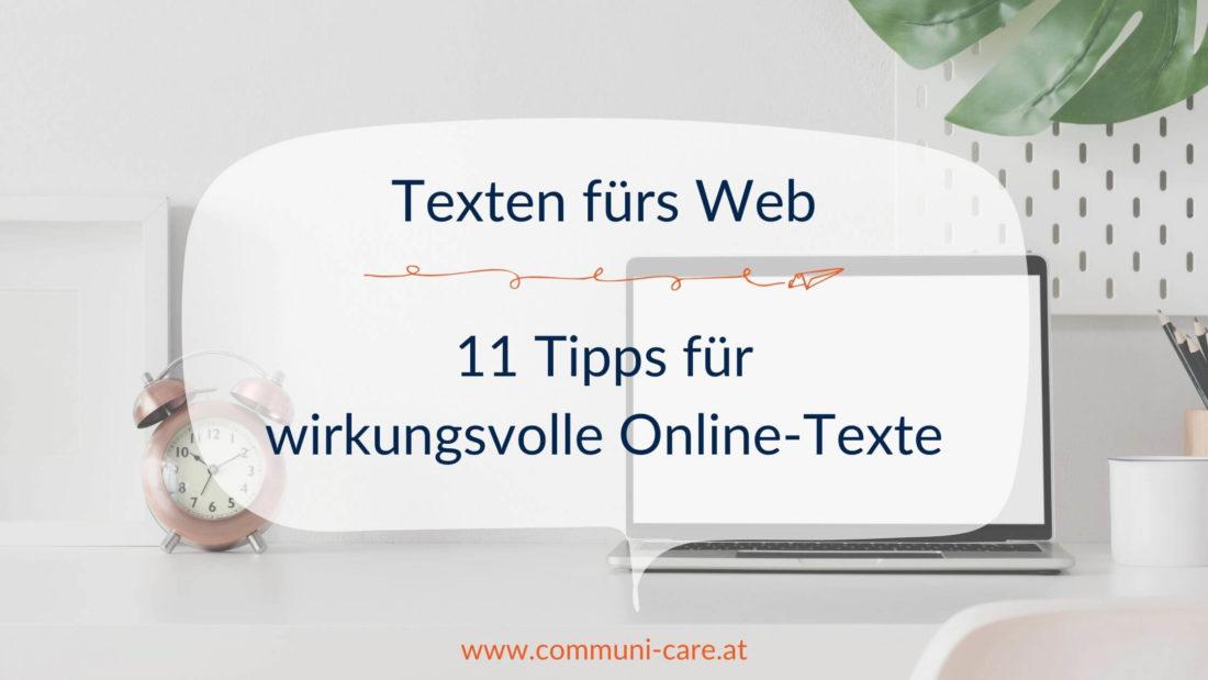 Texten fürs Web: 11 Tipps für wirkungsvolle Online-Texte
