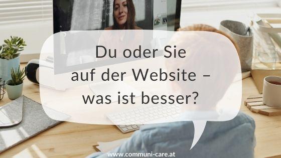 Soll ich meine Kunden auf der Website duzen oder siezen?