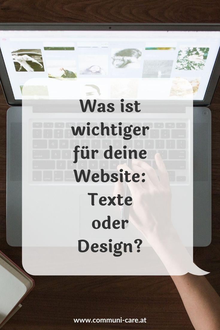 Was ist wichtiger für deine Website: Texte oder Design?