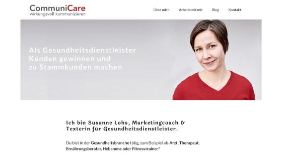 Wie Bilder auf der Website wirken – Beispiel CommuniCare